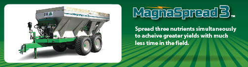 MagnaSpread3 three-bin fertilizer spreader